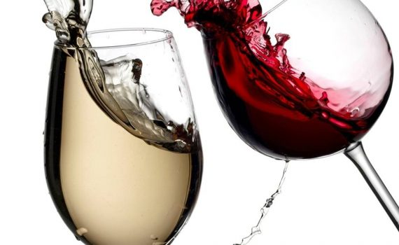red and white wine photo